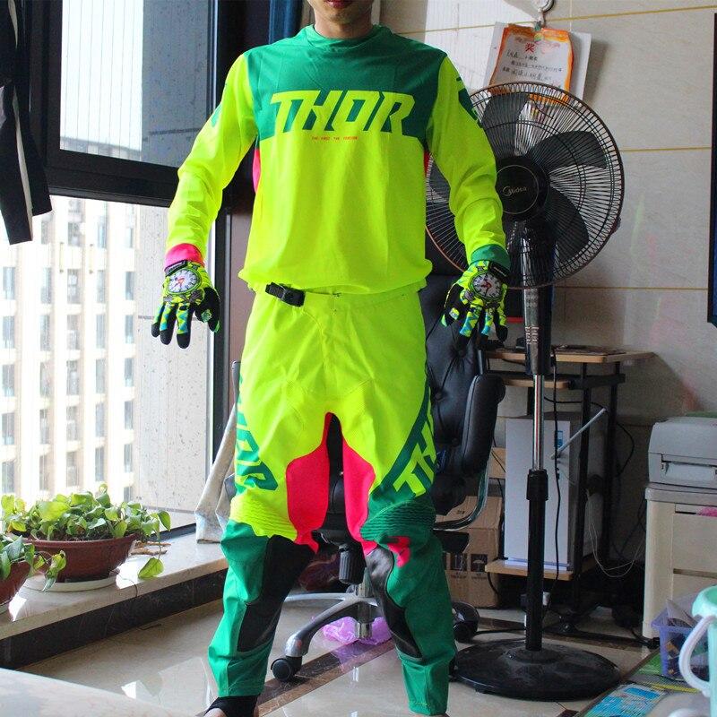 2019 printemps Motocross Jersey ensemble rose Dirt Bike Gear set Top qualité MX Jersey et pantalon