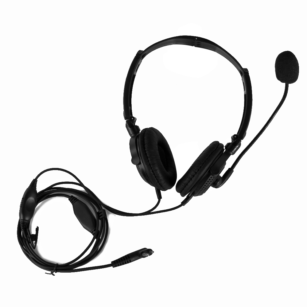 2 PIN Folding Noise Canceling Headphones Headset For Motorola Walkie Talkie Radios GP2000 GP300 GP308 GP68 GP88