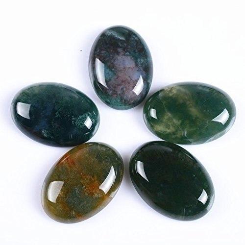 Натуральный камень каменный Агат e Кабошон бусины 22*30 мм плоское дно драгоценный камень каменный Кабошон для изготовления ювелирных изделий 10 шт./партия - Цвет: Indian agate 10pcs