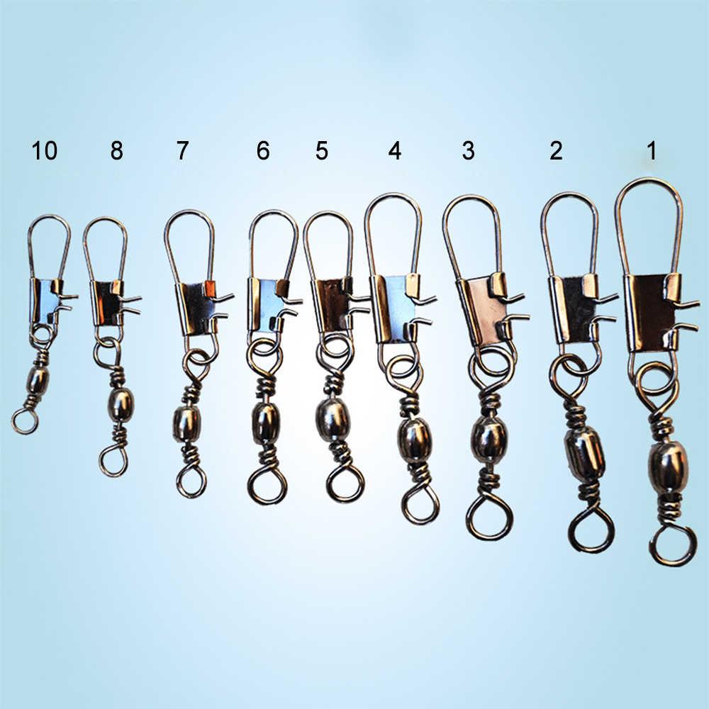 100 unids/lote, Conector de pesca, herramientas de pesca, enlace, aparejo de pesca sólido, accesorios de señuelo de pesca, enganchado, artículos a presión para equipo de pesca
