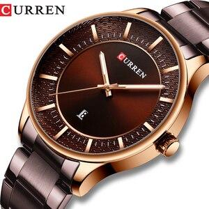 Image 1 - CURREN Relogio Masculino אופנה זכר שעון איש נירוסטה להקת שעון גברים קוורץ שעוני יד עם תאריך מקרית עסקי מתנה