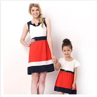2015 mother and daughter clothing summer style fam...