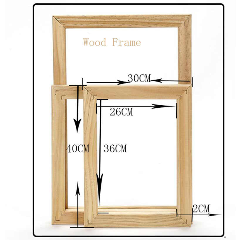 Wood frame for canvas oil painting Factory Price Wood frame for canvas oil painting nature wood DIY frame picture inner frame