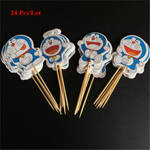 birthday decoration doraemon cake topper children kids party themes decorating supplies cat cupcake toppers