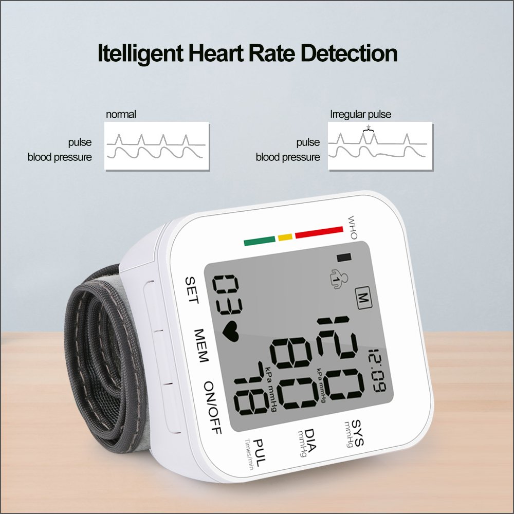 Image 5 - RZ Digital Wrist Blood Pressure Monitor Pulse Rate Heart Beat Rate Meter Device Medical Equipment Tonometer BP Sphygmomanometer-in Blood Pressure from Beauty & Health