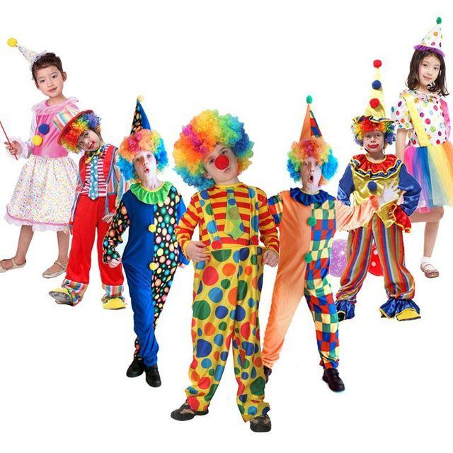 M ~ XL Nouveau Drôle Clown De Cirque Enfants Enfants Halloween Parc Partie  Costumes Vilain Arlequin bfde93a57b3