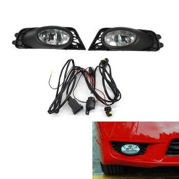 Zestaw światła przeciwmgielne lampy z Grille Grill dla Honda Civic 4 drzwi do obiektu Mugen 09-11 jasne DX Sedan HO2592124 \ HO2593124
