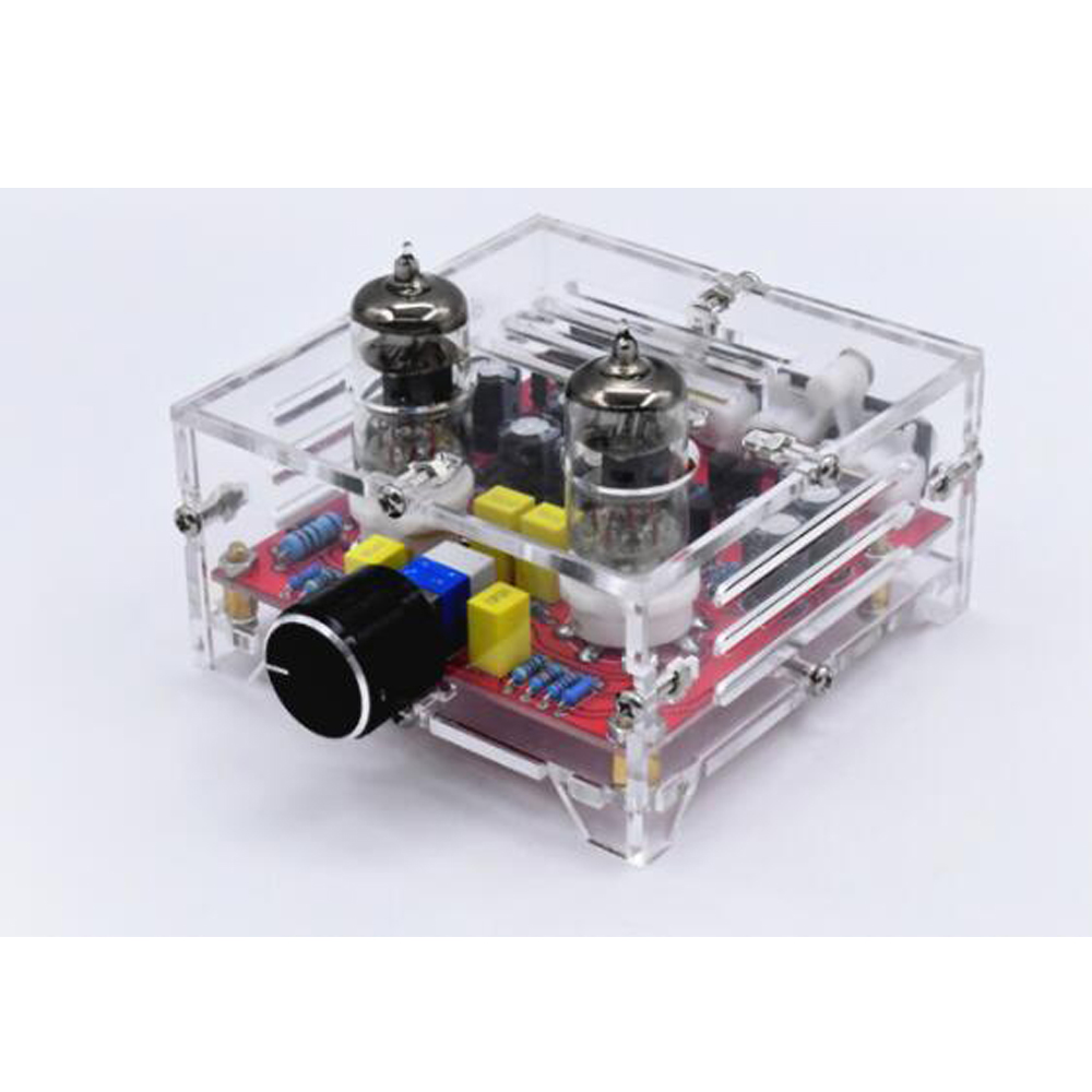 Fever Grade 6J1 Tube Amplifier Preamp Board HIFI Class A Tone Board Finished Board Crystal Shell image