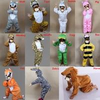 Jongen Meisjes Cartoon Dier Kostuum voor Kid Cosplay Giraffe Bee Zebra Aap Jumpsuits Kleding Nieuwjaar Kostuums Gift Nieuwjaar