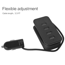Universal DC 5V 4.1A 4 Ports Car Charger Power Adapter Charging Hub for iPhone 4 5S 5C 6 6S 7 Plus for iPad for Android Phones