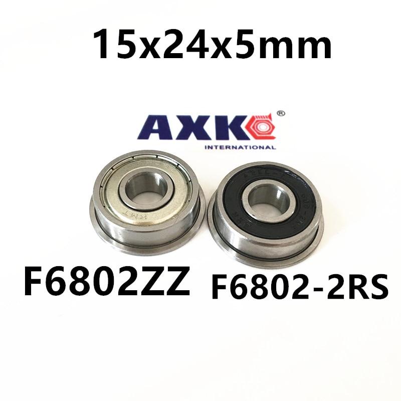 F6802ZZ F6802-2RS  flange bearing Thin wall deep groove ball bearings F6802-2RS 15*24*26*5*1.1 mm 6802 6802zz 6802rs 6802 2z 6802z 6802 2rs zz rs rz 2rz deep groove ball bearings 15 x 24 x 5mm high quality