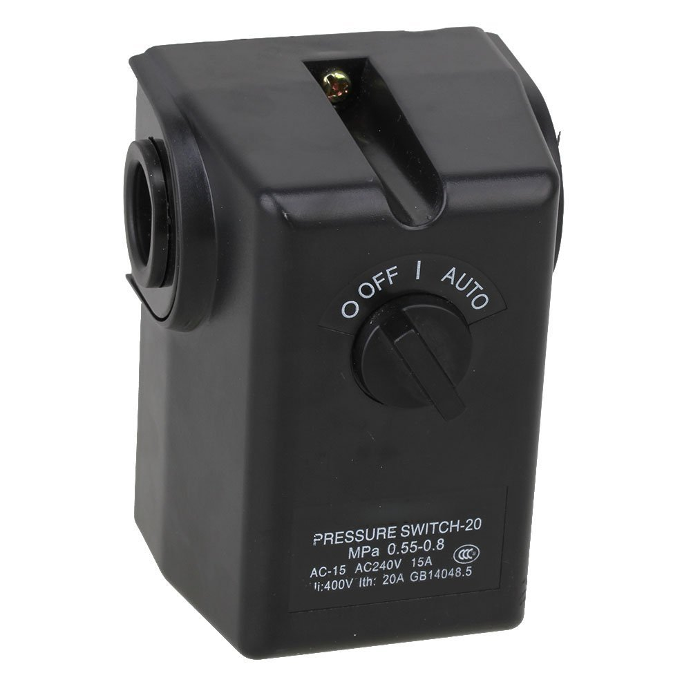 Horizontal Type Replacement Part 4 Port SPDT Air Compressor Pump Pressure On / Off Knob Switch Control Valve 80-115 PSI AC240V колготки sisi be free размер 4 плотность 20 den nero