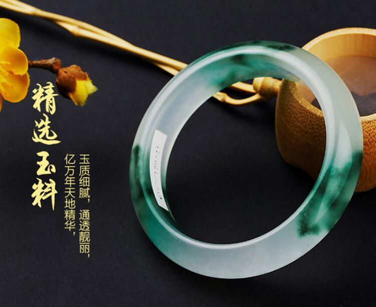 Emerald jade bracelet, female, natural Burma ice, Yang green authentic Belt CertificateEmerald jade bracelet, female, natural Burma ice, Yang green authentic Belt Certificate