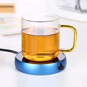 Image 4 - Przenośne elektryczne podstawki grzewcze bojler pulpit kawa herbata mleczna cieplej podgrzewacz kubek kubek ocieplenie tace 5 kolorów Office Home