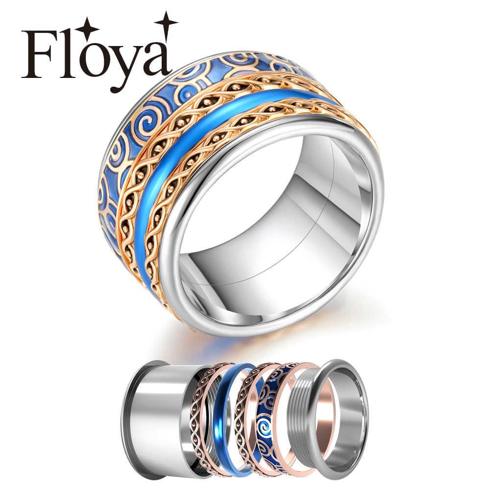 Floya Сменные кольца Спиннер стекируемые Ретро римское кольцо Arctic Symphony коллекция из нержавеющей стали аксессуары внутреннее кольцо