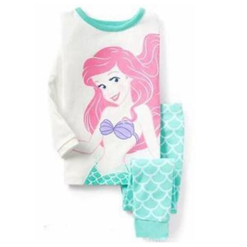 Kids Girls Sleepwear Child Mermaid Cartoon   Pajamas   Children New year Homewear   Pajamas   For boys Long Sleeve Clothing   Set   Pijamas