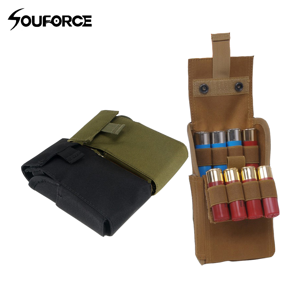 Ammo Bags Molle 25 Round 12GA 12 Gauge Ammo Shells Shotgun Reload Magazine Pouches Hunting Gun Accessory 45acp laser ammo