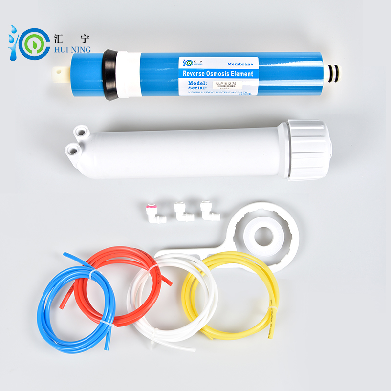 water filter 75G ro membrane and membrane housing with connector and wrench for Reverse osmosis water purifier imc hot 10 pcs rj45 8p8c double ports female plug telephone connector