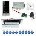 O envio gratuito de metal modelo C10 + eletrônico fechadura Magnética de controle de acesso + alimentação + chave fobs + porta de saída botão + controle remoto