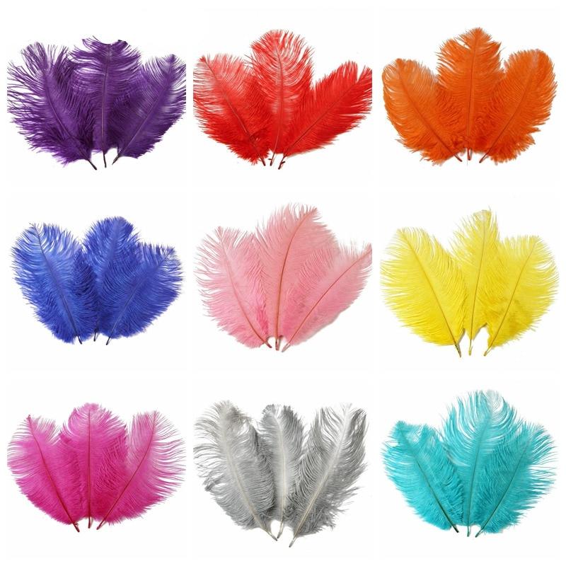 10 шт. 15-20 см красивые дешевые страусовые перья для украшение ручной работы изготовление Свадебная вечеринка Декор Аксессуары свадебные укр...
