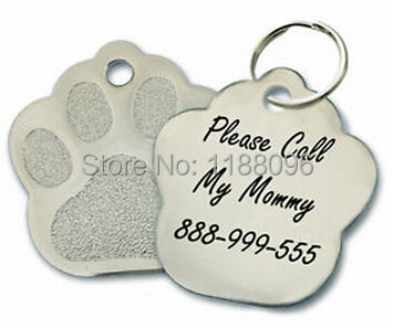 Mejor,venta de Encargo Personalizada Etiqueta de Perro Grabado bajo prcie Gato Etiqueta Del Animal