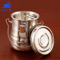 BGLN Oil Painting Brush Washing Bucket Wash Pen Barrel Cup Wash Brush Pot Stainless Steel Oil