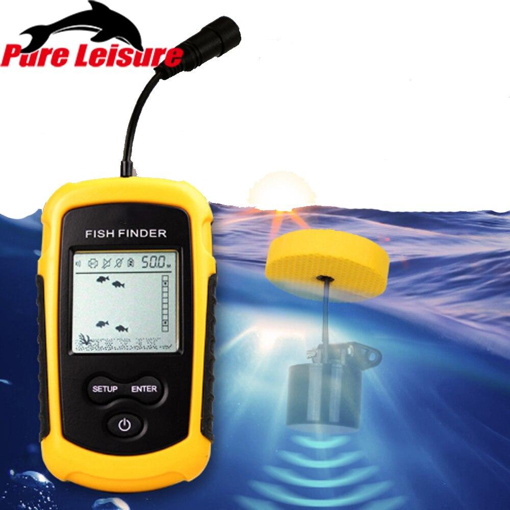 Sonar à poisson PureLeisure 2 pouces Sondeur Peche Outlife détecteur de poisson pare-soleil détecteur de pêche alarme Sonar profondeur Sondeur FF03