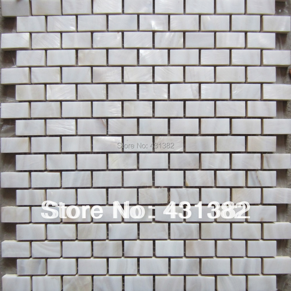 Us 249 9 Kitchen Backsplash Tiles Fresh Water Shell Mosaic Factory Direct Mother Of Pearl Decorative Tile Strips In Wallpapers