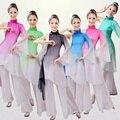 Mulheres Traje Dança Popular Chinesa Traje De Dança Tradicional para a Fase Yamgko Feminino de Dança Roupas Nacionais Traje Dança Do Leque 89