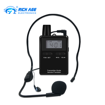 RichiTek RC2402 Two Way Tour Guide System 2 Transmitter and 8 receivers For Teaching Audio Communication