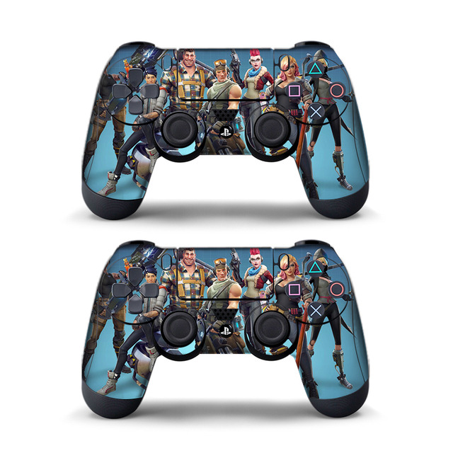 Data Frog 2Pcs For Fortress Night Sticker For Sony PlayStation4 Game Controller For PS4 Skin Stickers 11 Styles 2