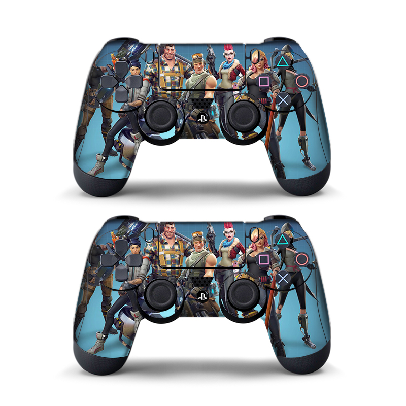 Data Frog 2pcs For Fortress Night Sticker For Sony Playstation4 Game Controller For Ps4 Skin Stickers 11 Styles #3