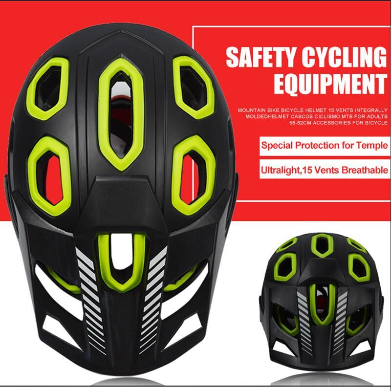 Professional Mountain Bike Bicycle Helmet 15 Vents Breathable Safety Integrally-Molded Helmet For Road MTB Cycling Helmet basecamp mtb road bike bicycle cycling helmet integrally molded 27 air vents helmet