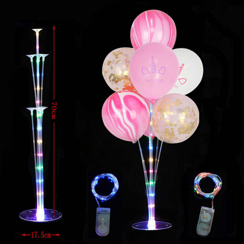 LED Lights Balloons Column Stand Table Floating Wedding Decor Balloon Holder Stick Baby Shower Kids Birthday Party Decoration