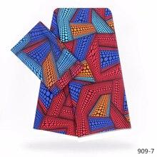 цена Wholesale! 2019 New Arriva 100% Modal African Wax Cloth Chiffon Fabric Wax African Silk Satin fabric 4+2Yards/Piece ! 909-1