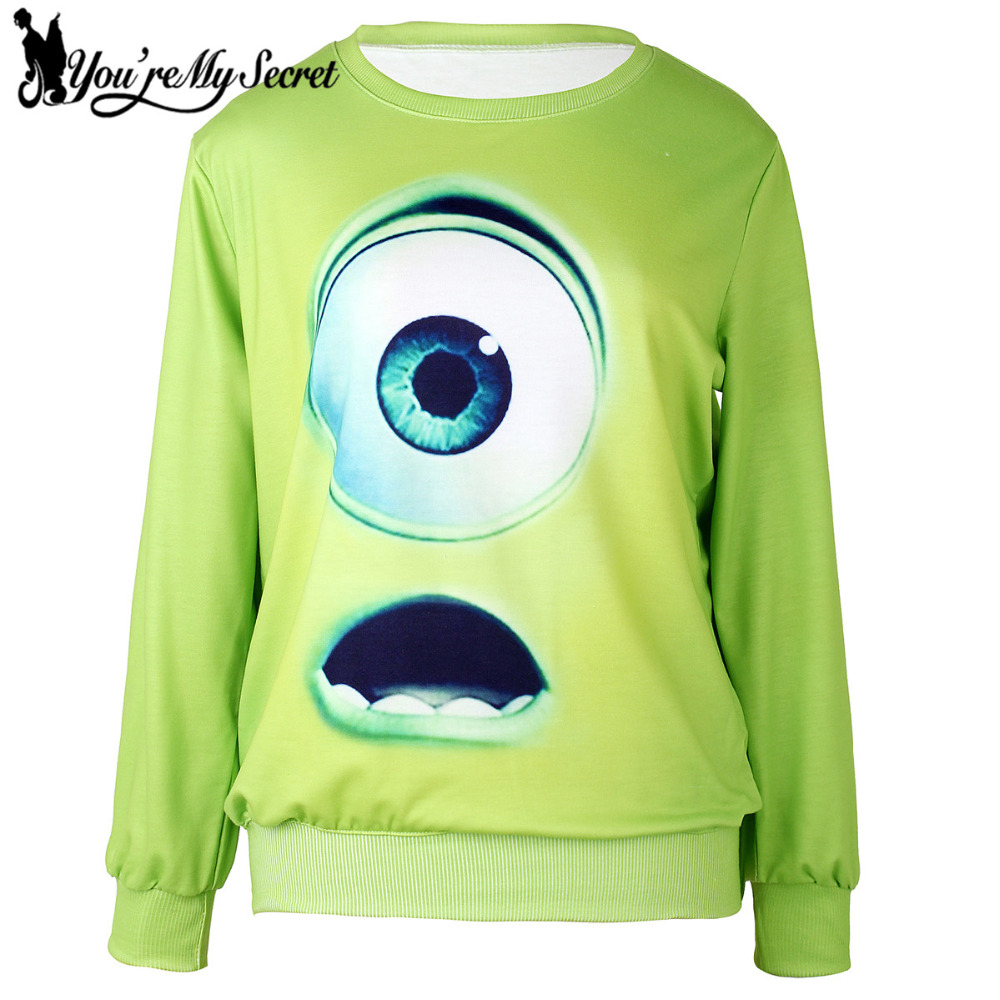 [Youre My Secret] Moleton Feminino O-Neck Long Sleeve Moleton 3D Printed Women Sweatshir ...