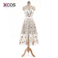 XCOS New Arrival Cocktail Dresses Lace White Short Dresses Appliques Elegant Party Dress Vestido De Noiva 2018