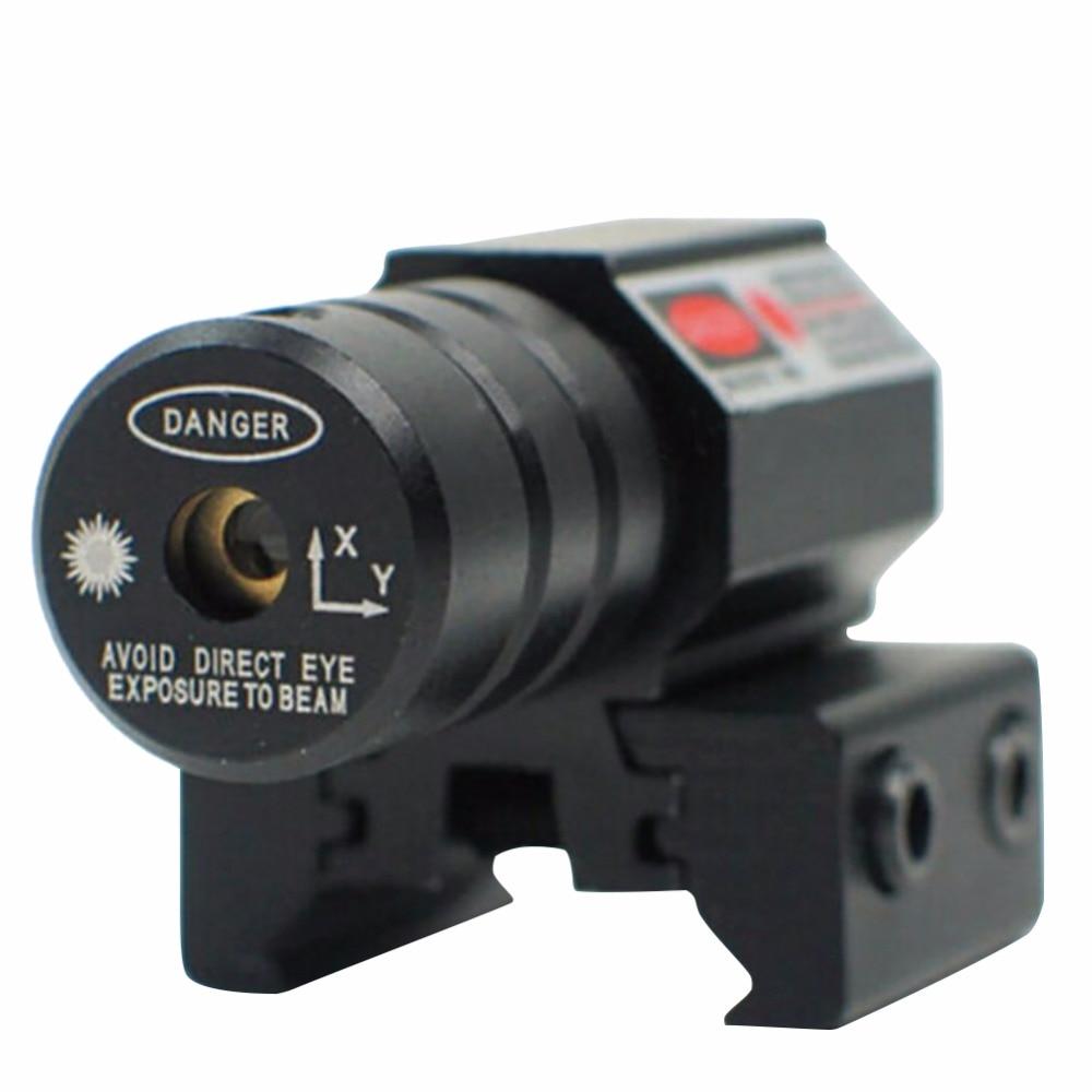 New Adjust 11mm 20mm Red Dot Laser Sight Pistol 50-100 Meters Range 635-655M Picatinny Rail Hunting Accessory 2018 HOT