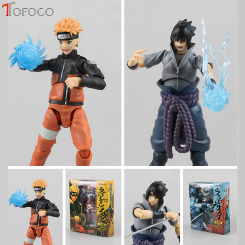 TOFOCO Anime Uzumaki Naruto Collection Action Figure Models Naruto Chidori Sasuke PVC Movabale Joints Model Toys Can Change Face anime naruto pvc action figure toys q version naruto figurine full set model collection free shipping