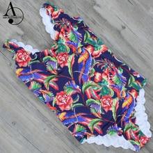 ABOUTTHEFIT Impresas Las Mujeres de Una Pieza del traje de Baño Colorido traje de Baño Femenino 2017 Diseño Sexy Monokini Traje de Baño Traje de baño