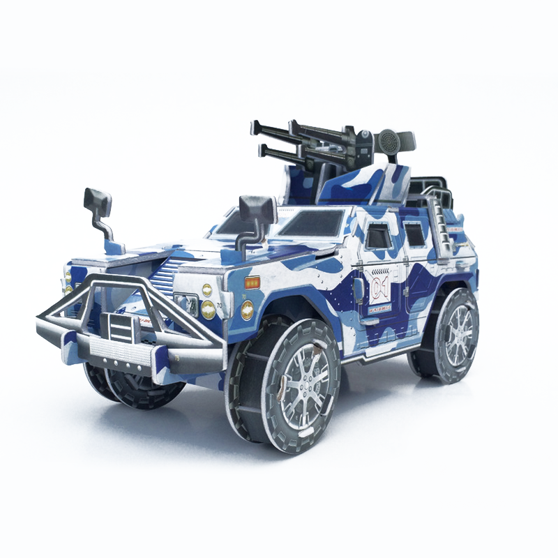 1 set educational 3d jigsaw battlefield senior hummer model paper puzzles toys for children early learning