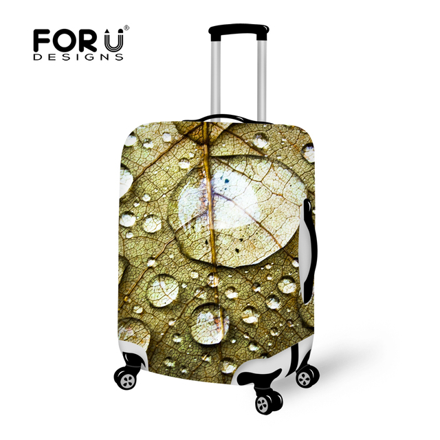 New 3D Drops Elastic Travel Luggage Protective Cover Stretch Fabric Durable Trunk Case Clear Covers Apply To 18-30 Inch Suitcase