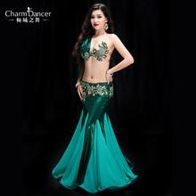YC039 taniec brzucha kobiety elastan i perła szyfonowa zestaw do tańca brzucha dziewczyny taniec brzucha