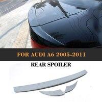 Alerón de alerón trasero para maletero de coche gris sin pintar de PU para Audi A6 C6 2005 2011 alerón trasero para maletero|lip spoiler|trunk lip spoiler|boot spoilers -