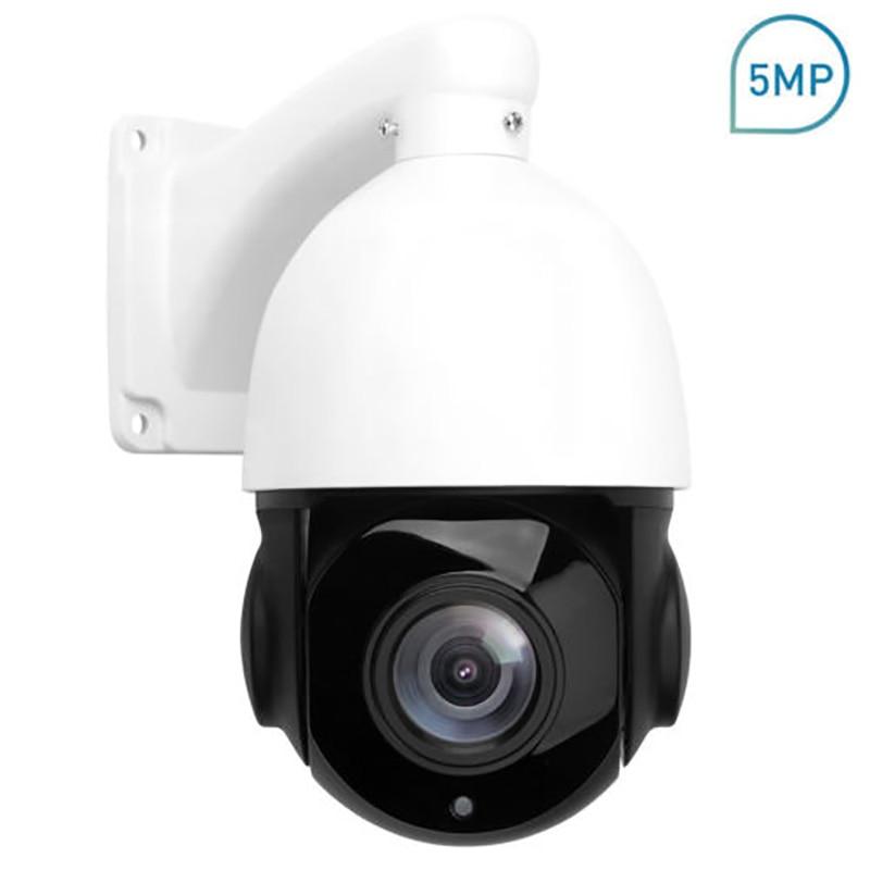 POE PTZ IP Камера 5MP Super HD 2592x1944 панорамирования/наклона 30x зум Скорость купол Камера s средний -Скорость купола 4 дюймов Мини IP66 IP Камера