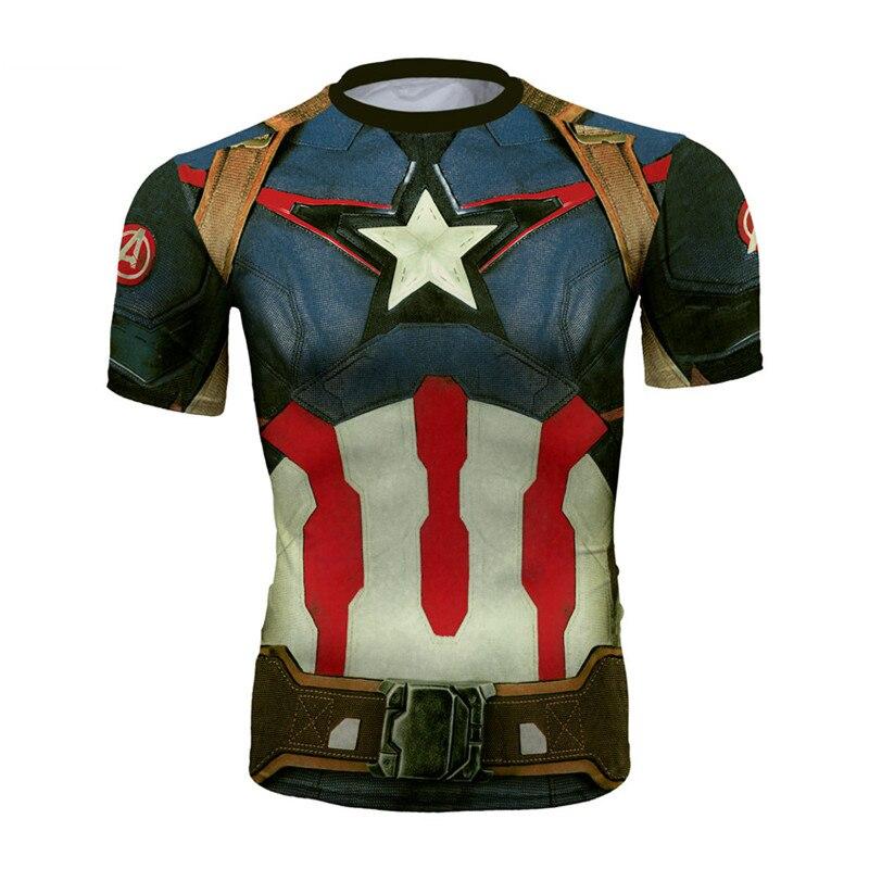 T-Shirt Super Hero 3D T Shirt Mens Fitness Tee Topy