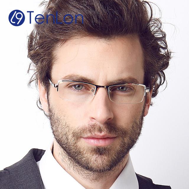 TenLon Очки PURE Titanium материал деловой человек очки кадр óculos де грау очки мужчина очки чтения