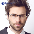 Tenlon gafas titanium puro material de negocios hombre enmarcan gafas de grau gafas hombre gafas de lectura
