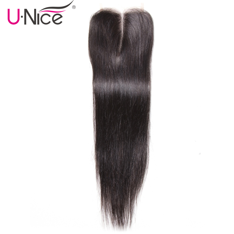 UNice Hair Icenu Series Remy Hair Peruvian Straight Hair Lace Closure Middle Part Remy Human Hair