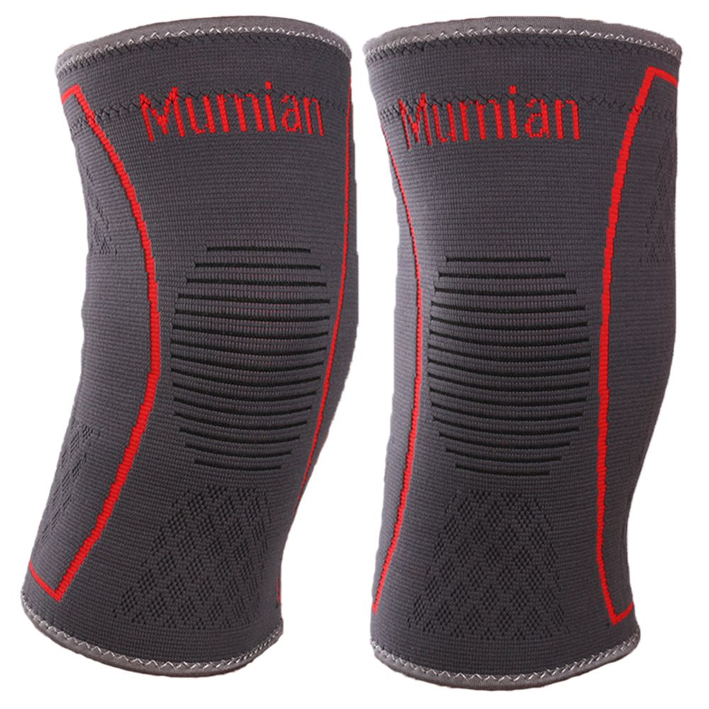 1 PCS Mumian Flexible Silicone Anti-Slip Knee Pads 3-D Knit Warm Knee Brace Compression Support Knee Sleeve Protect
